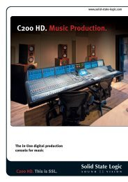 C200 HD. Music Production. - Solid State Logic