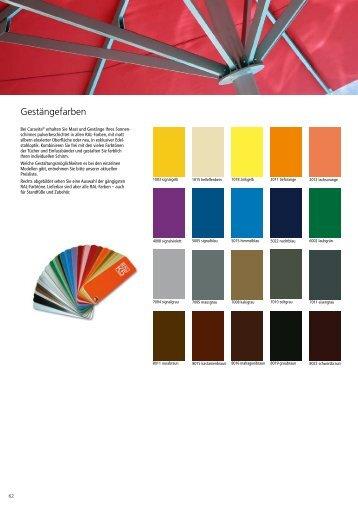 Gestängefarben - Schirm 2000