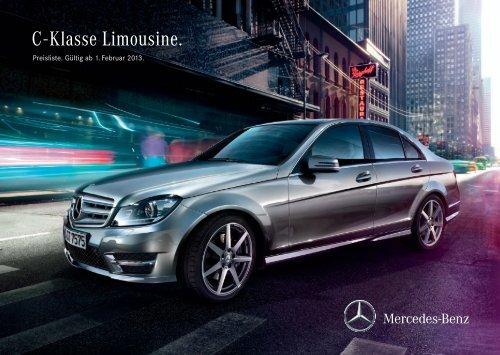 Preisliste C-Klasse Limousine - Mercedes-Benz Deutschland