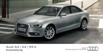 Kurzanleitung Audi A4 Avant - PDF