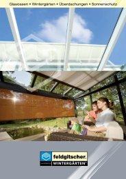 Glasoasen • Wintergärten • Überdachungen • Sonnenschutz
