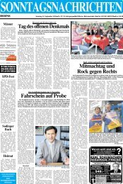 Tel. 0 23 23 / 5 40 95 - Sonntagsnachrichten