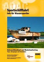 Checkliste Gebrauchtbootkauf & Kaufvertrag - ADAC