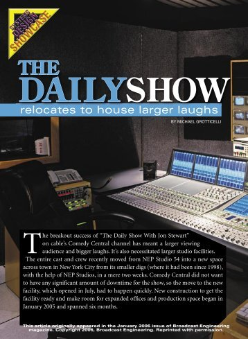 Broadcast Engineering Magazine - January 2006 - Solid State Logic