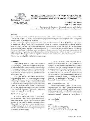 Abordagem Alternativa para Aferição de Ruído Sonoro no - fipai