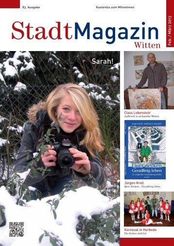 Witten Sarah! - Stadtmagazin