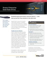 Stratus Enterprise Solid State Drives - Stratus Technologies