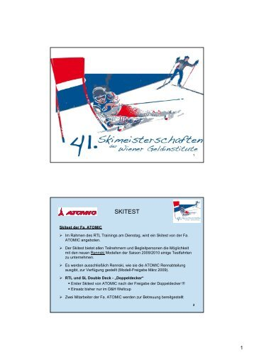ATOMIC Skitest