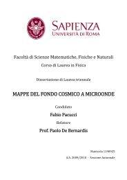 MAPPE DEL FONDO COSMICO A MICROONDE