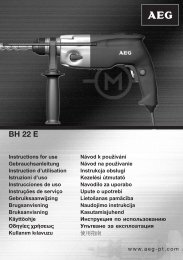 AEG-BH22E - Download Instructions Manuals