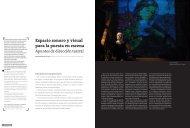 Espacio sonoro y visual para la puesta en escena - Teatro UC