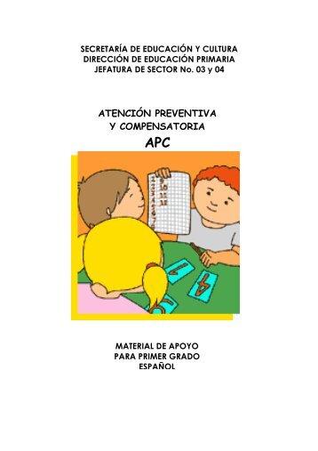 APC ESPAÑOL 1° GRADO - escuela primaria agustin melgar