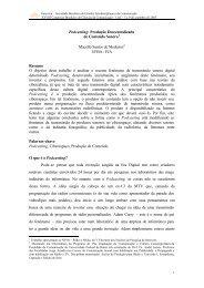 Podcasting: Produção Descentralizada de Conteúdo Sonoro ...