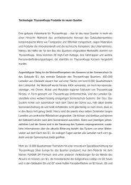 Technologie: ThyssenKrupp Produkte im neuen Quartier Eine ...