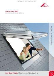 ROTO Dachfenster - Sonnenschutz und Zubehör bei ... - TKM Fenster