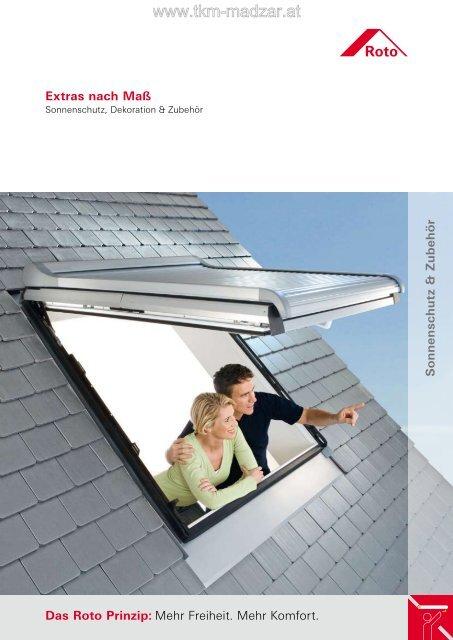 Roto dachfenster sonnenschutz und zubeh r bei tkm for Sonnenschutz dachfenster