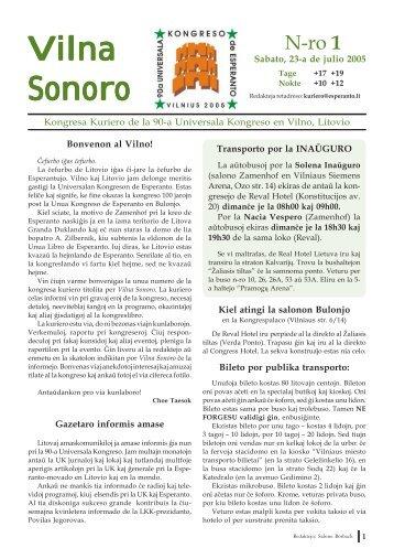 Vilna Sonoro - La Esperanta Gazetejo