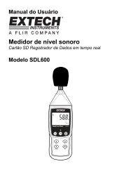 Manual do Usuário Medidor de nível sonoro - Extech Instruments