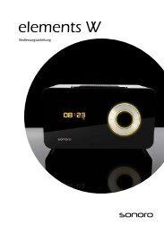 Bedienungsanleitung (~1.200 KB) - Sonoro