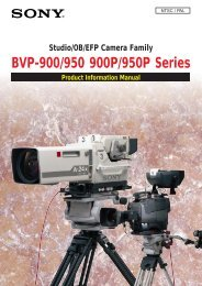 BVP-900/950 900P/950P Series - Sony