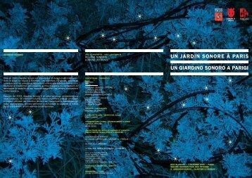 Un Giardino Sonoro a Parigi.pdf - Cultura Toscana