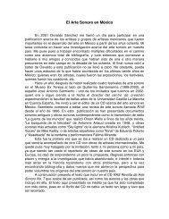 El Arte Sonoro en México - Manuel Rocha Iturbide