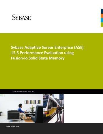 Sybase Adaptive Server Enterprise (ASE) 15.5 Performance ...