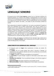 lenguaje sonoro - Facultad de Periodismo y Comunicación Social
