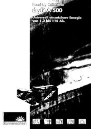 Sonnenschein dryfit A500-Serie (pdf 1649k)
