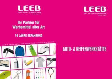 Auto- & reifenwerkstÄtte - Werbeartikel Leeb
