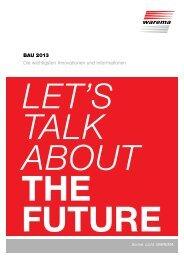 BAU 2013 Die wichtigsten Innovationen und Informationen - Warema