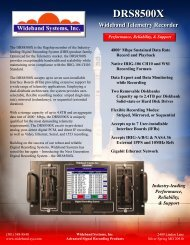 DRS8500X Data Sheet - Wideband Systems, Inc