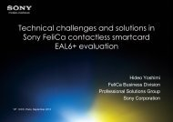 Technical challenges and solutions in Sony FeliCa contactless ...