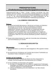FRIEDHOFSATZUNG - Meckenbeuren