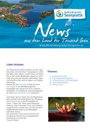 Themen: Liebe Urlauber, - Mecklenburgische Seenplatte
