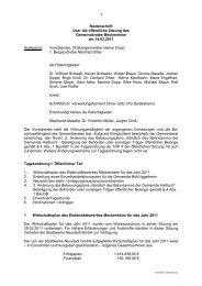 Niederschrift über die öffentliche Sitzung des Gemeinderates ...