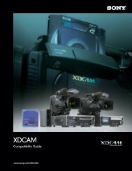 XDCAM Compatibility Guide - Sony