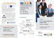 Weitere Informationen im Veranstaltungsflyer - MECK