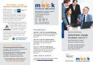 Flyer zur HWK-Roadshow im November 2010 - MECK