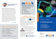 Flyer zur Veranstaltungsreihe mit Faxanmeldung - MECK