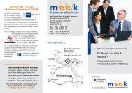 Flyer zur Veranstaltungsreihe mit Fax-Anmeldung - MECK