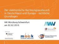Der elektronische Rechnungsaustausch in Deutschland - MECK