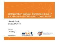 Datenkraken Google, Facebook & Co.?! Was Unternehmen in - MECK