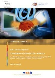 Installationsleifaden für Alfresco - MECK
