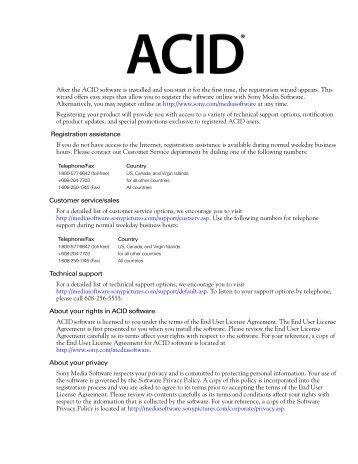 ACID User Manual - TextFiles.com