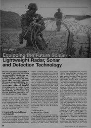 Equipping the Future Soldier - Lightweight Radar, Sonar ... - Etronika
