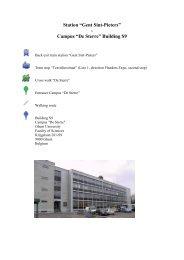 """Station """"Gent Sint-Pieters"""" - Campus """"De Sterre"""" Building S9"""