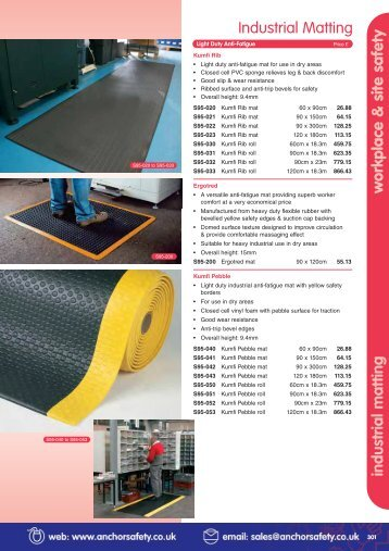 workplace & site safety industrial matting Industrial Matting