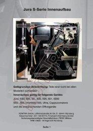 Jura S-Serie Innenaufbau - KOMTRA GmbH
