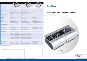 S9™ - Serie mit Climate Control* - ResMed